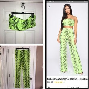 2 Piece Fashion Nova snakeskinprint set